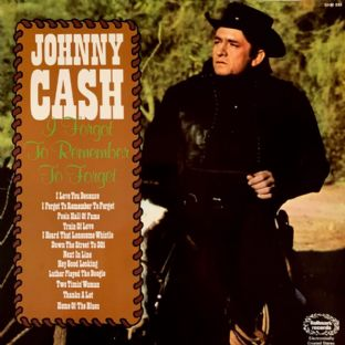 Johnny Cash - I Forgot To Remember To Forget (LP) (G+/G-VG)